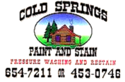 Cabin staining (Cold Springs Paint & Stain)
