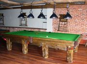 Rustic Log Pool Tables for Log Home / Cabin