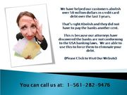 We Can Help You Wipe out & Clean your Financial Card Obligations