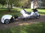 Pearl White Honda Goldwing 1800 with 13, 510 miles
