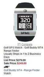 Sunrisegolfcarts.com offers branded golf range finders